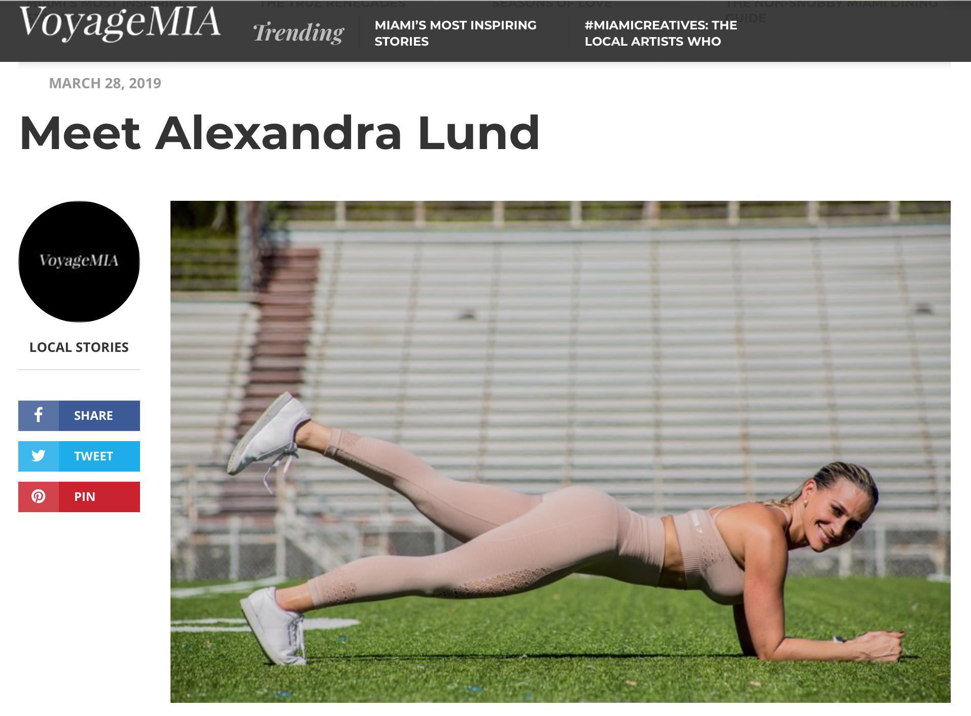 Alexa Lund Fitness Press Voyage Mia Magazine