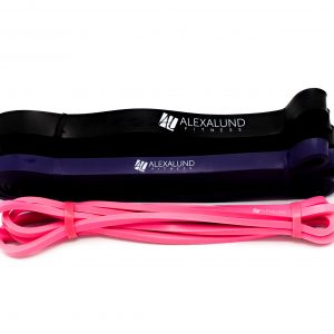 Alexa Lund Fitness PullUp Bands - Set of 3: Black, Purple, Pink