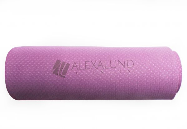 Alexa Lund Fitness Pink Yoga Mat with logo - Standard size